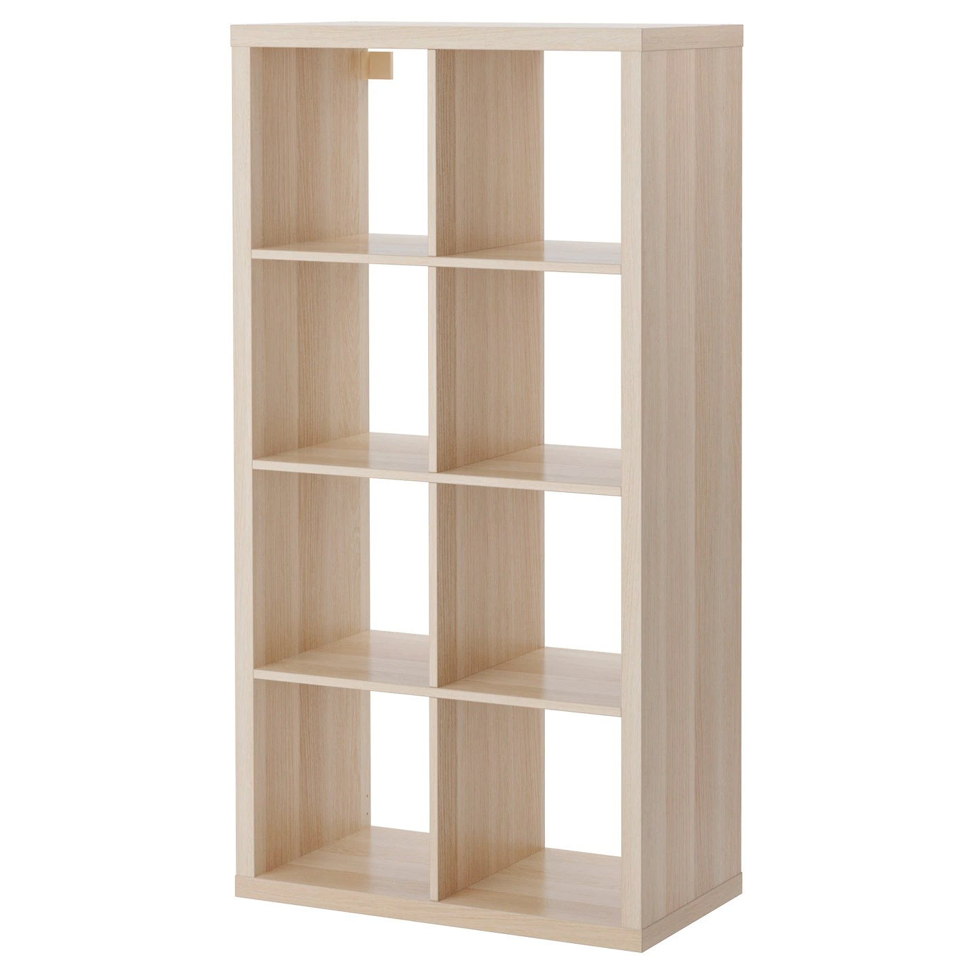 Ikea Cubes Kallax Shelving Unit White Stained Oak Effect