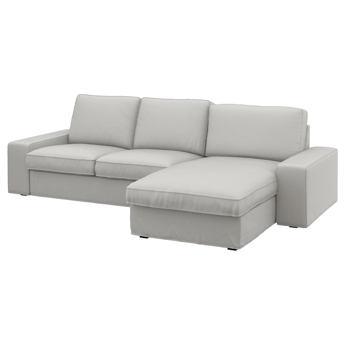 Kivik With Chaise Longue Ramna Light Grey 3 Seat Sofa Ikea