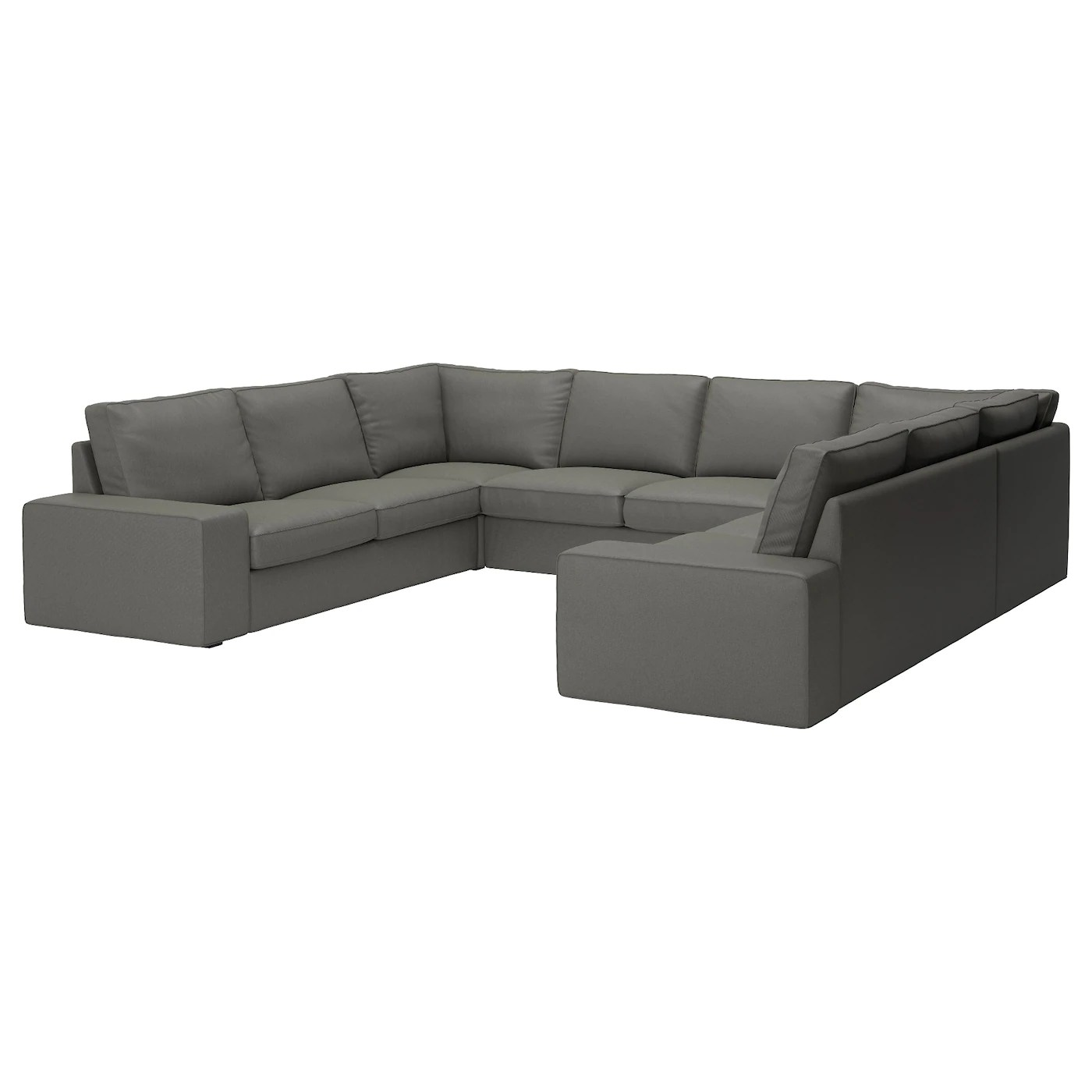 U Form Sofa Ikea Kivik Sofa U Shaped 8 Seater Borred Grey Green Ikea