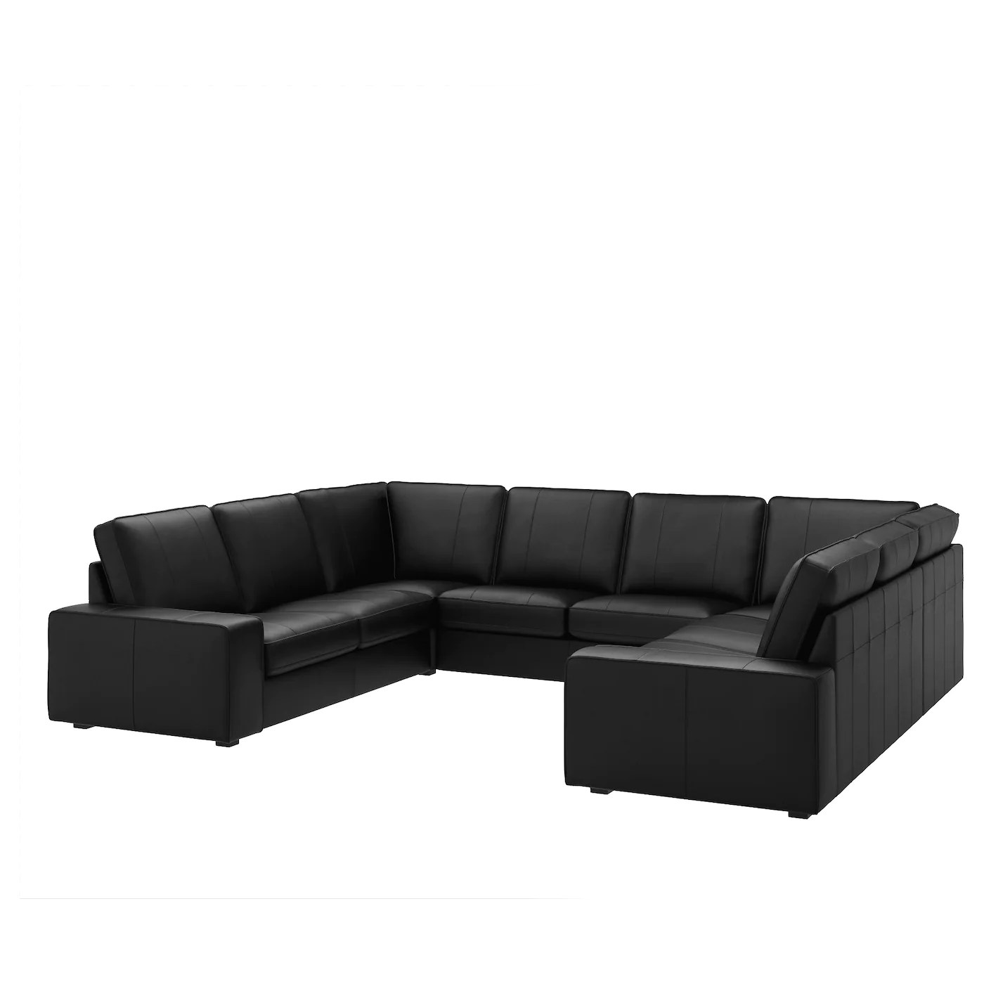 U Sofa Kivik U Shaped Sofa 6 Seat Grann Bomstad Black