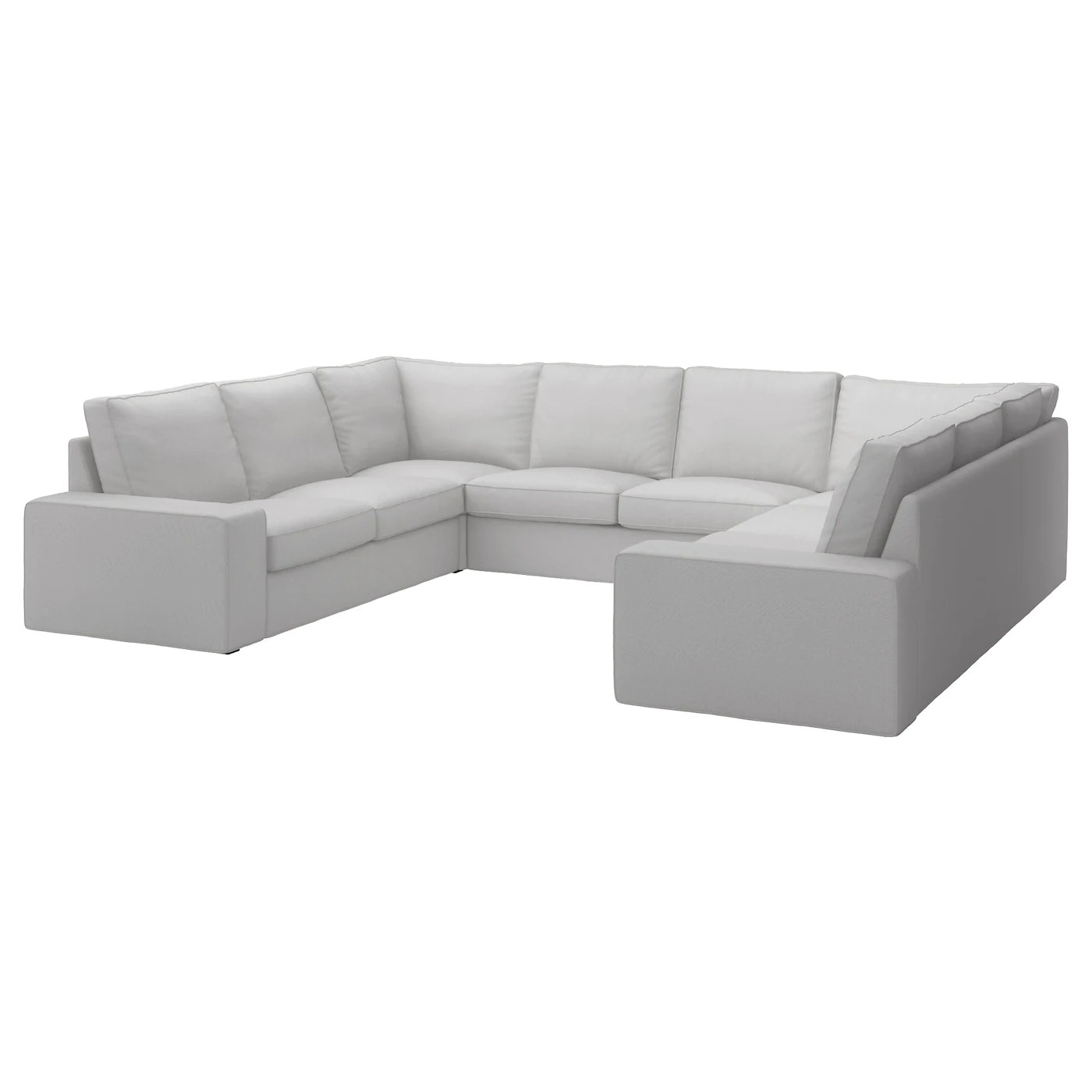 Bettsofa Ikea Kivik U Shaped Sofa 6 Seat Ramna Light Grey