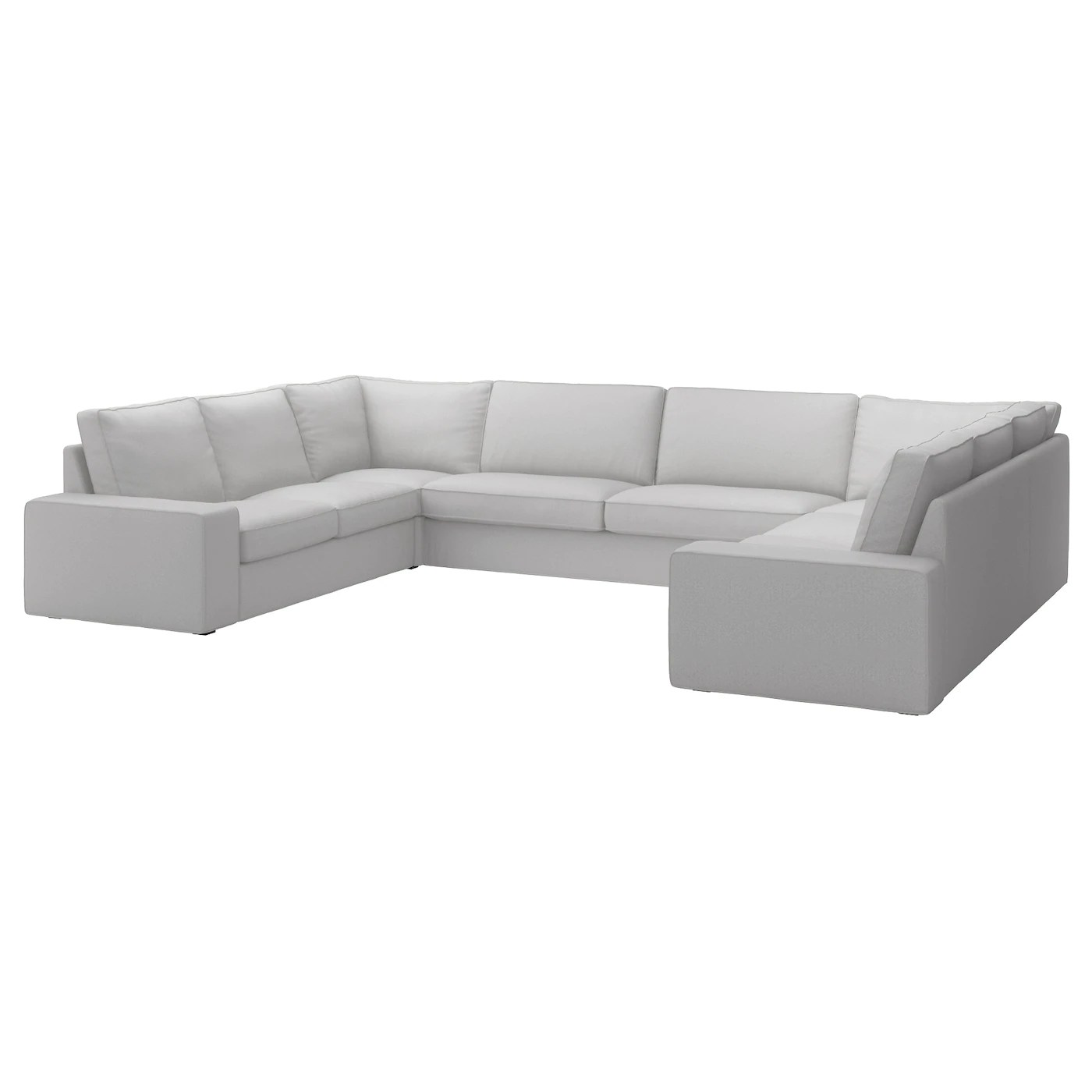 U Form Sofa Ikea Kivik U Shaped Sofa 7 Seat Ramna Light Grey Ikea