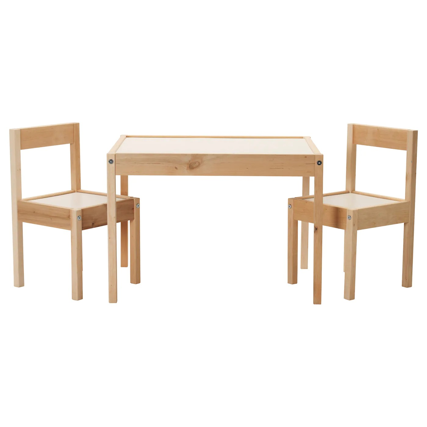 Childrens Wooden Table And Chairs LÄtt Children S Table With 2 Chairs White Pine