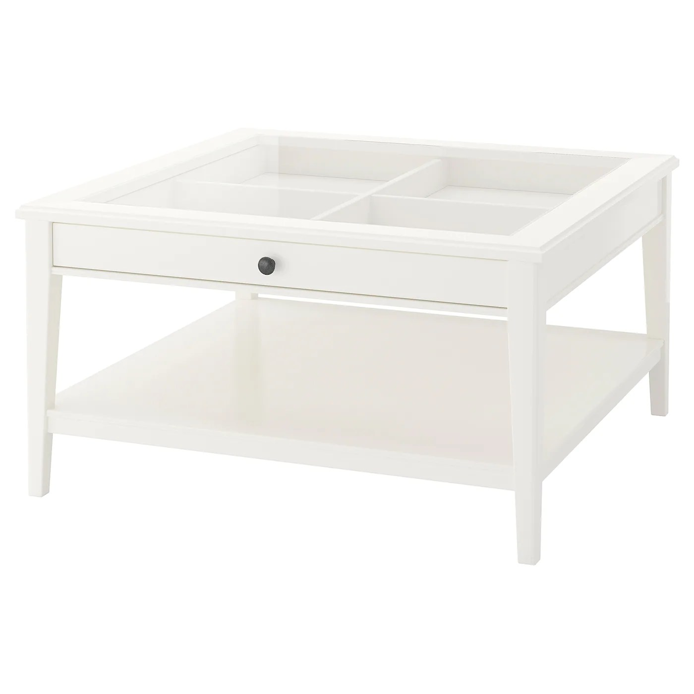 Liatorp White Glass Coffee Table 93x93 Cm Ikea