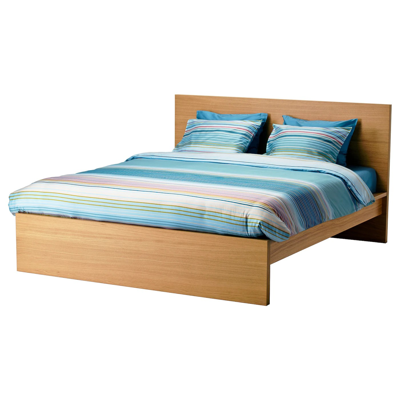 Double Beds Ikea Malm Bed Frame High Oak Veneer Luröy Standard Double Ikea