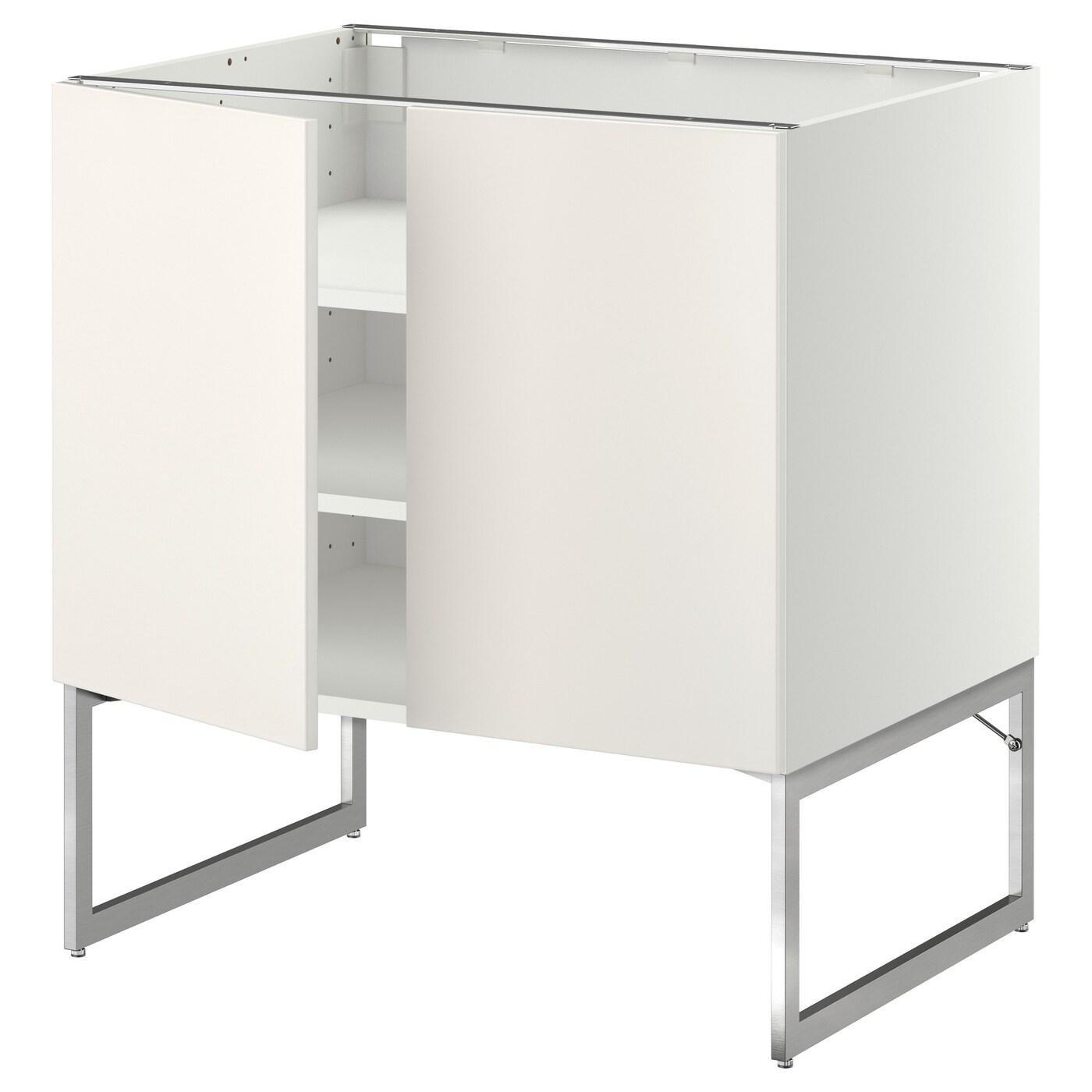 Ikea Schrankküche Metod Base Cabinet With Shelves 2 Doors White Veddinge