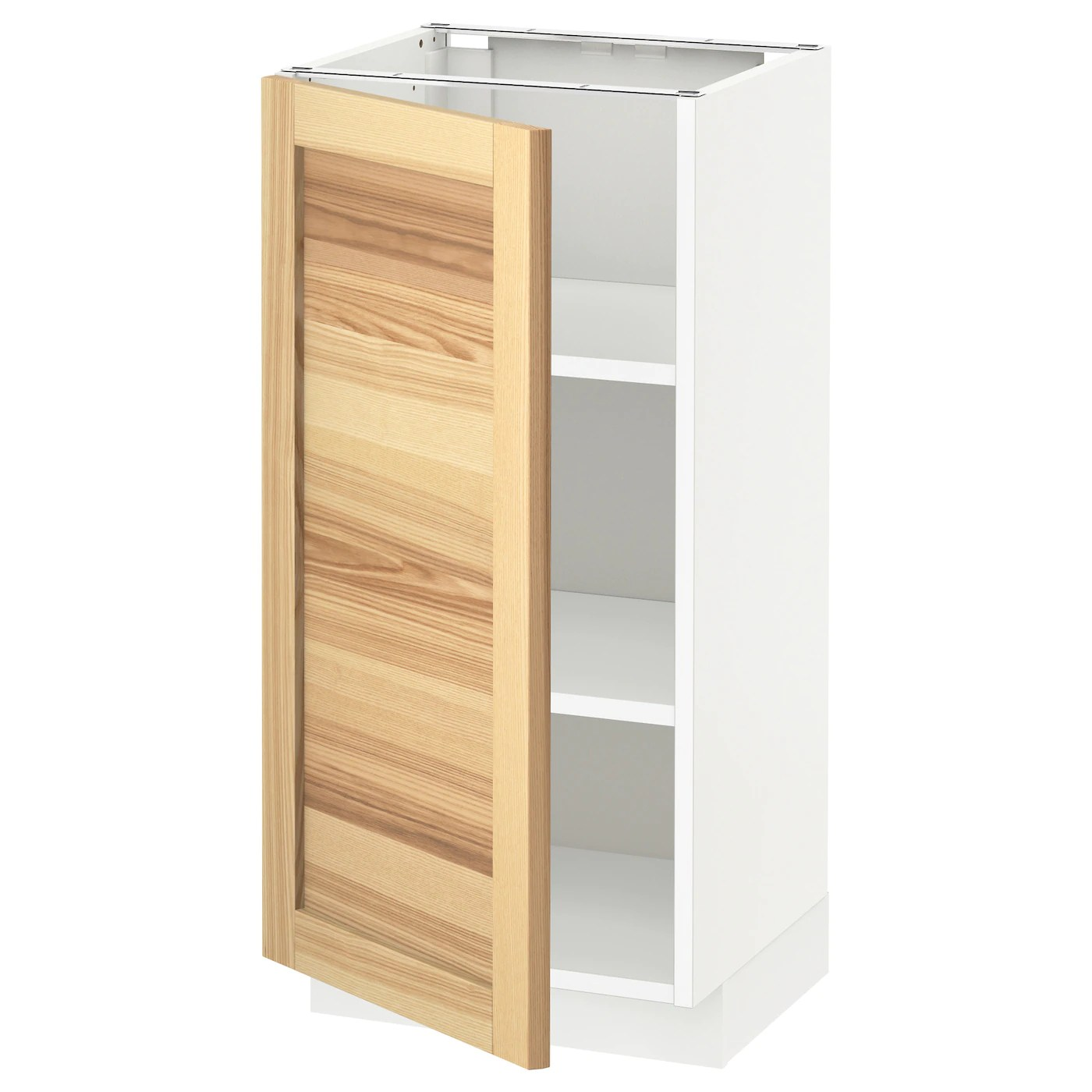 Ikea Küche Torhamn Metod Base Cabinet With Shelves White Torhamn Ash 40 X 37