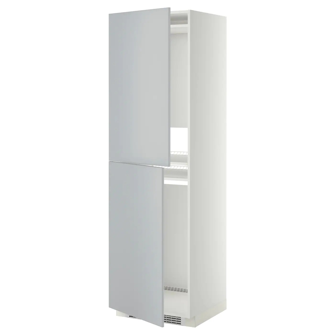 Metod High Cabinet For Fridge Freezer White Veddinge Grey 60 X 60 X 200 Cm Ikea - Ikea Vorhänge Trockner