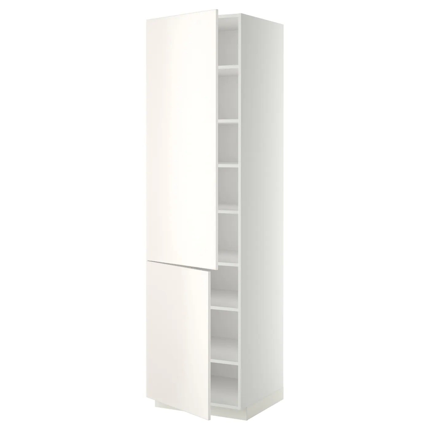 Nobilia Auszugschrank Metod High Cabinet With Shelves 2 Doors White Veddinge
