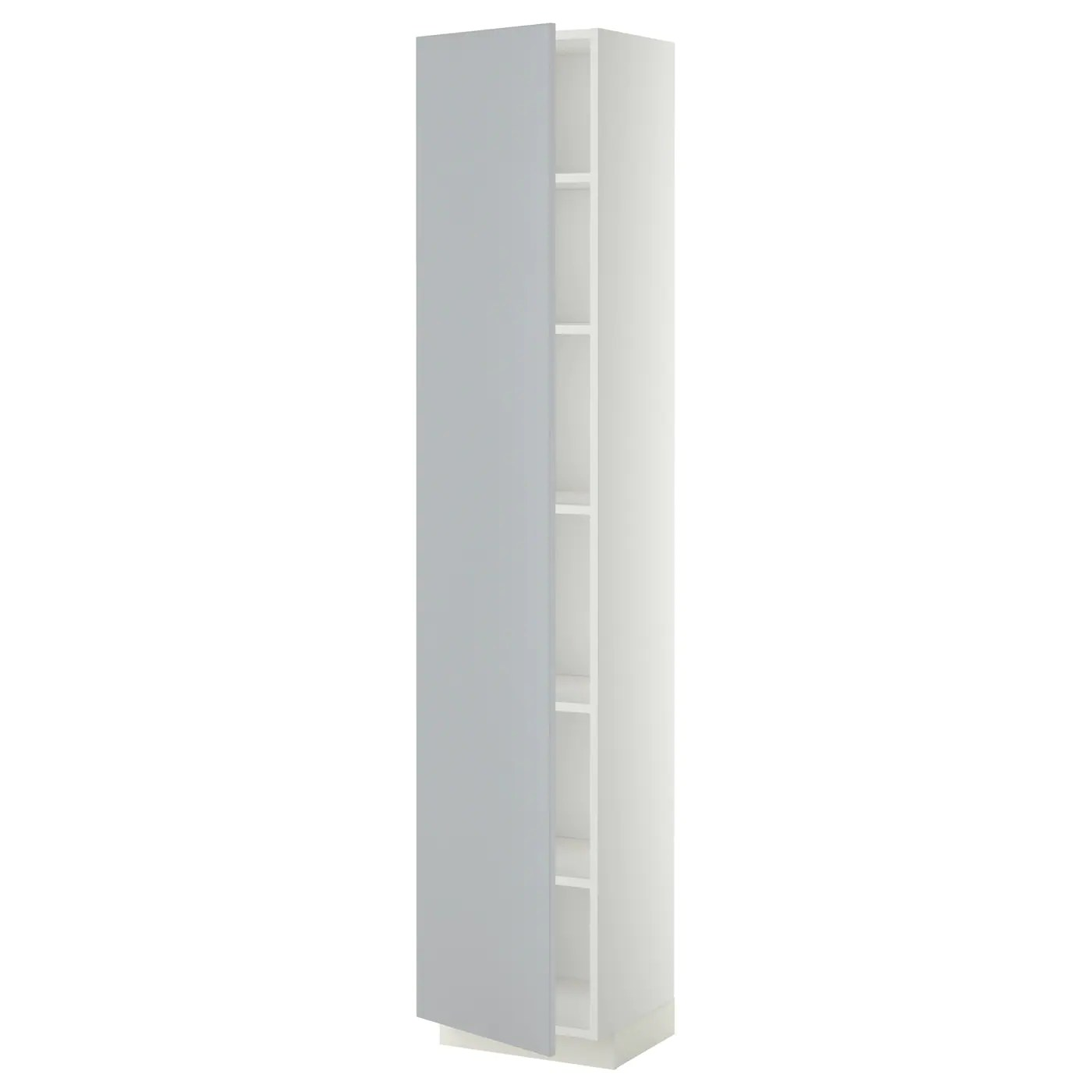 Ikea Meuble Metal Metod High Cabinet With Shelves White Veddinge Grey