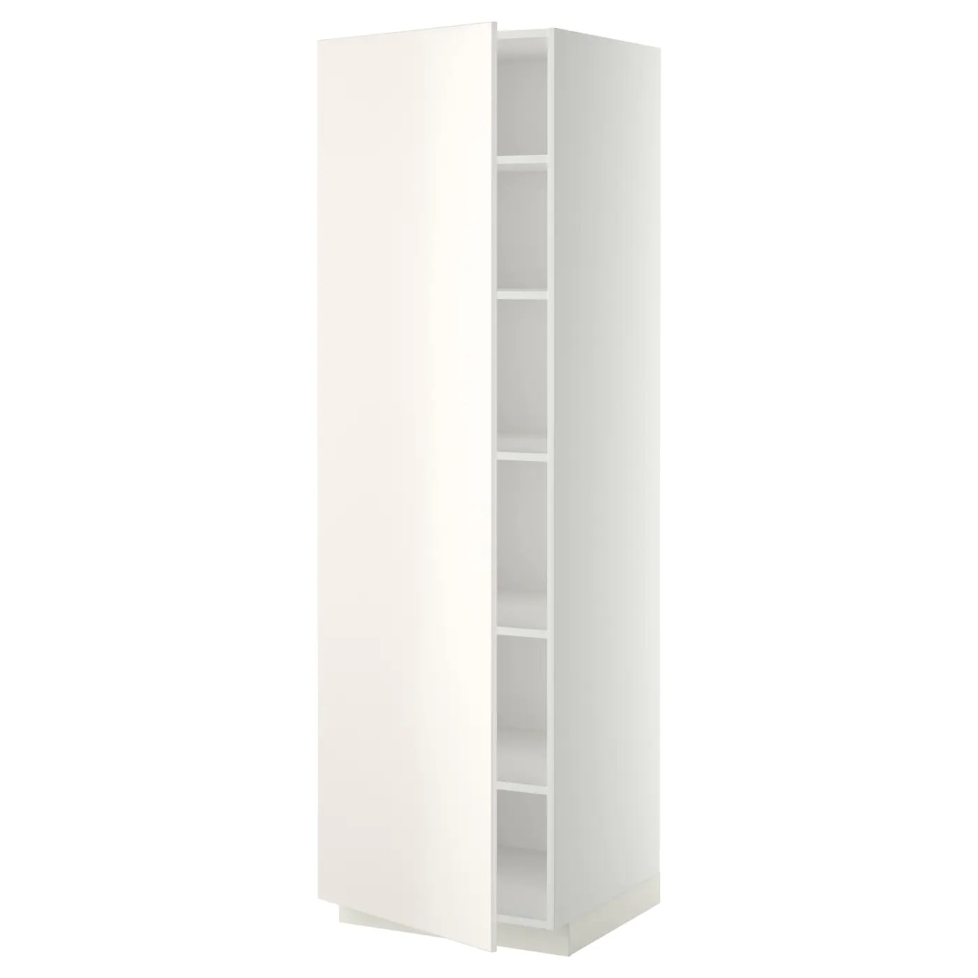 Apothekerschrank Ausziehschrank Küche Metod High Cabinet With Shelves White Veddinge White 60 X