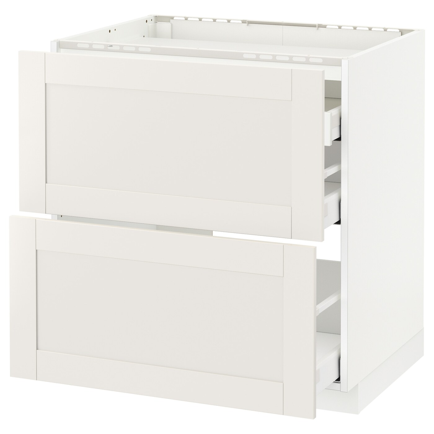 Ikea Sävedal Metod Maximera Base Cab F Hob 2 Fronts 3 Drawers White Sävedal White