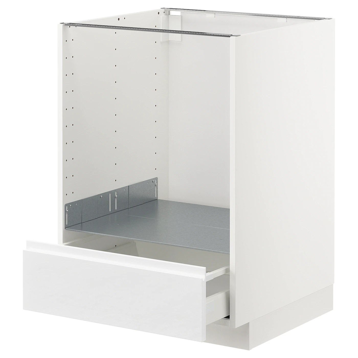 Ikea Metod Pdf Metod Maximera Base Cabinet For Oven With Drawer White Voxtorp High Gloss White