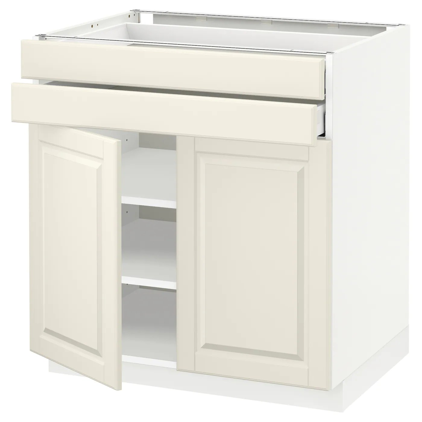 Ikea Sävedal Metod Maximera Base Cabinet W 2 Doors 2 Drawers White