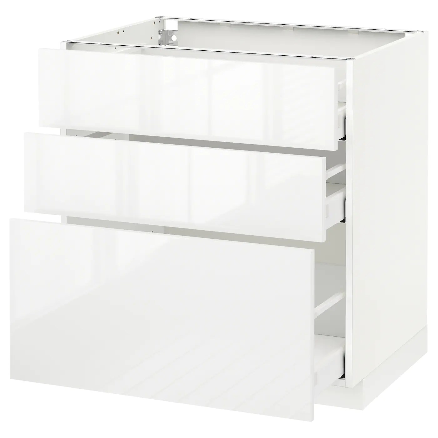 Ikea Küchenfronten Ringhult Metod Maximera Base Cabinet With 3 Drawers White Ringhult