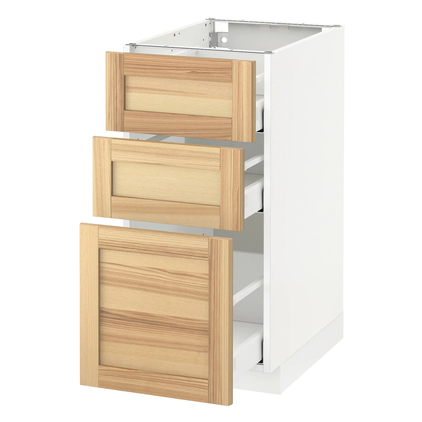 Ikea Küche Torhamn Metod Maximera Base Cabinet With 3 Drawers White Torhamn