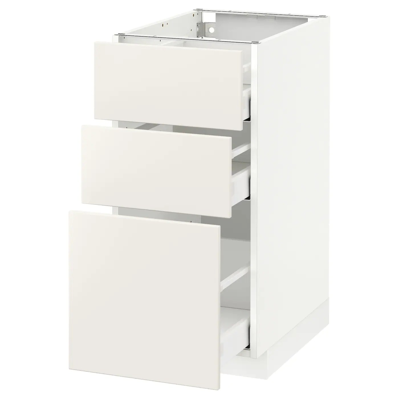 Ikea Metod Pdf Metod Maximera Base Cabinet With 3 Drawers White Veddinge White