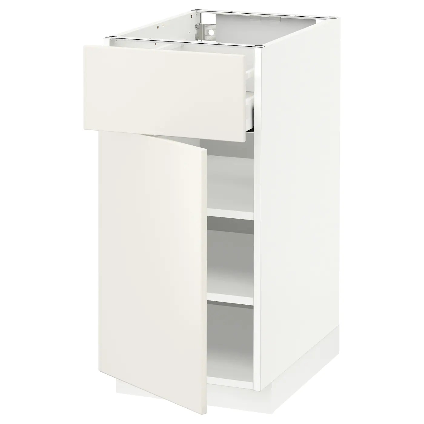 Ikea Küchenschrank Veddinge Metod Maximera Base Cabinet With Drawer Door White