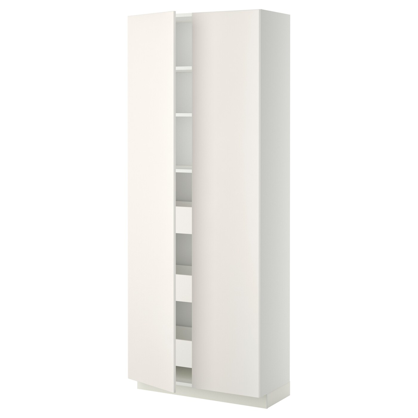 Ikea Küchenschrank Veddinge Metod Maximera Hi Cab With Drawers 2 Doors White Veddinge