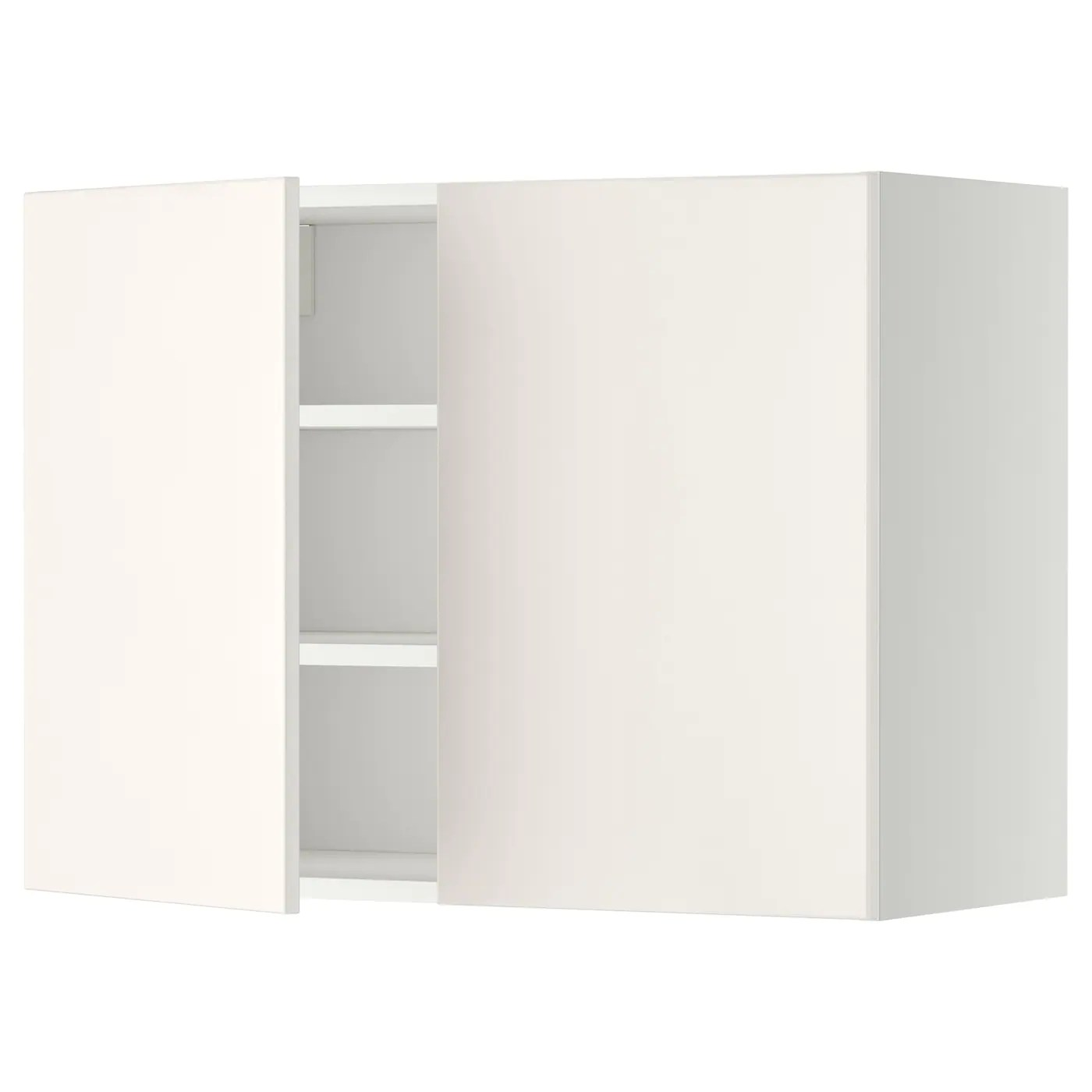 Ikea Küchenschrank Veddinge Metod Wall Cabinet With Shelves 2 Doors White Veddinge