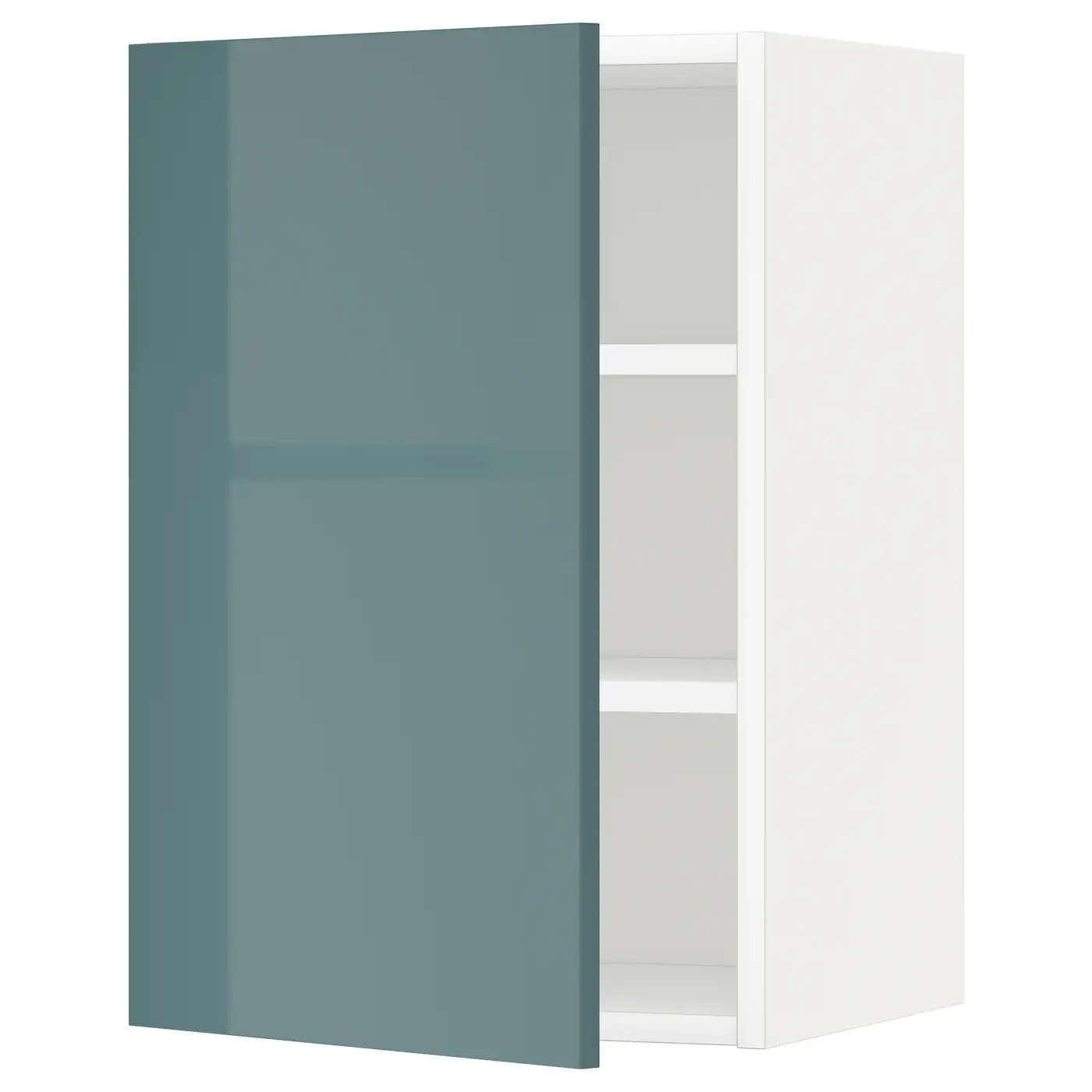 Kallarp Gris Turquoise Metod Wall Cabinet With Shelves White Kallarp Grey Turquoise