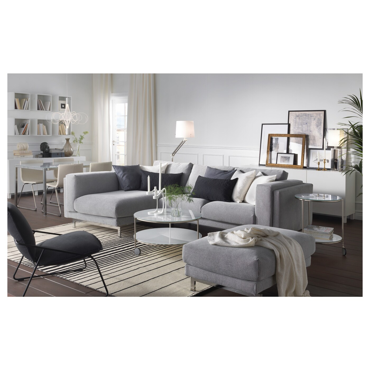 Ikea Nockeby Two Seat Sofa Nockeby Two Seat Sofa W Chaise Longue Left Tallmyra White