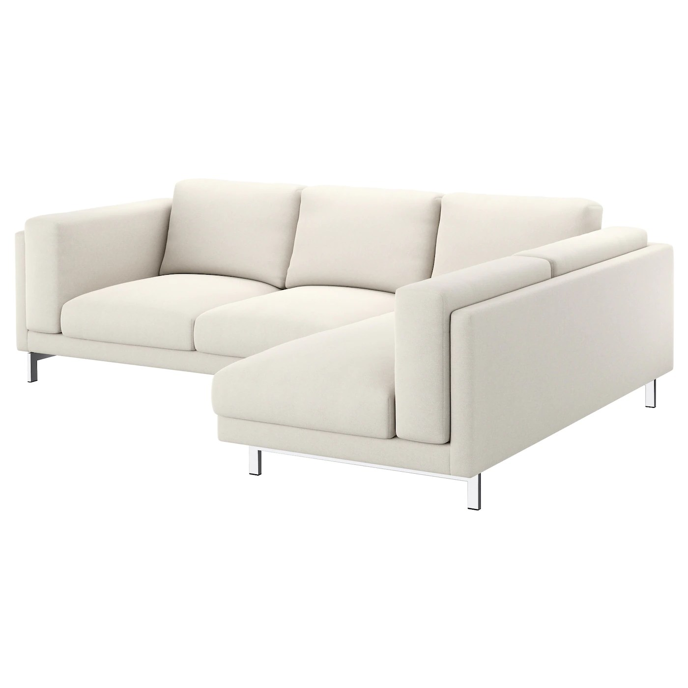 Ikea Nockeby Two Seat Sofa Nockeby Two Seat Sofa W Chaise Longue Right Tallmyra Light