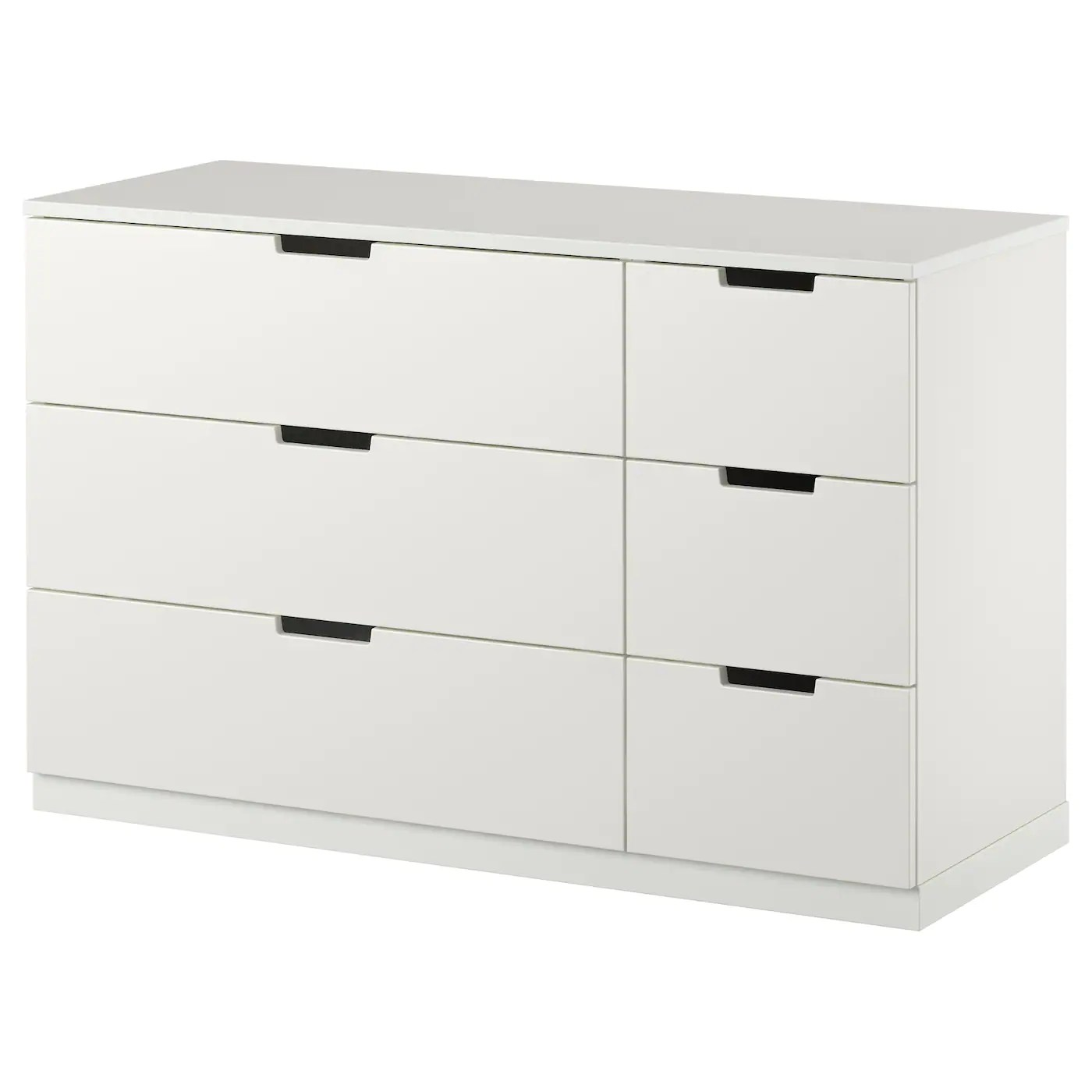 Ikea Nordli Dresser Nordli Chest Of 6 Drawers White 120x75 Cm - Ikea