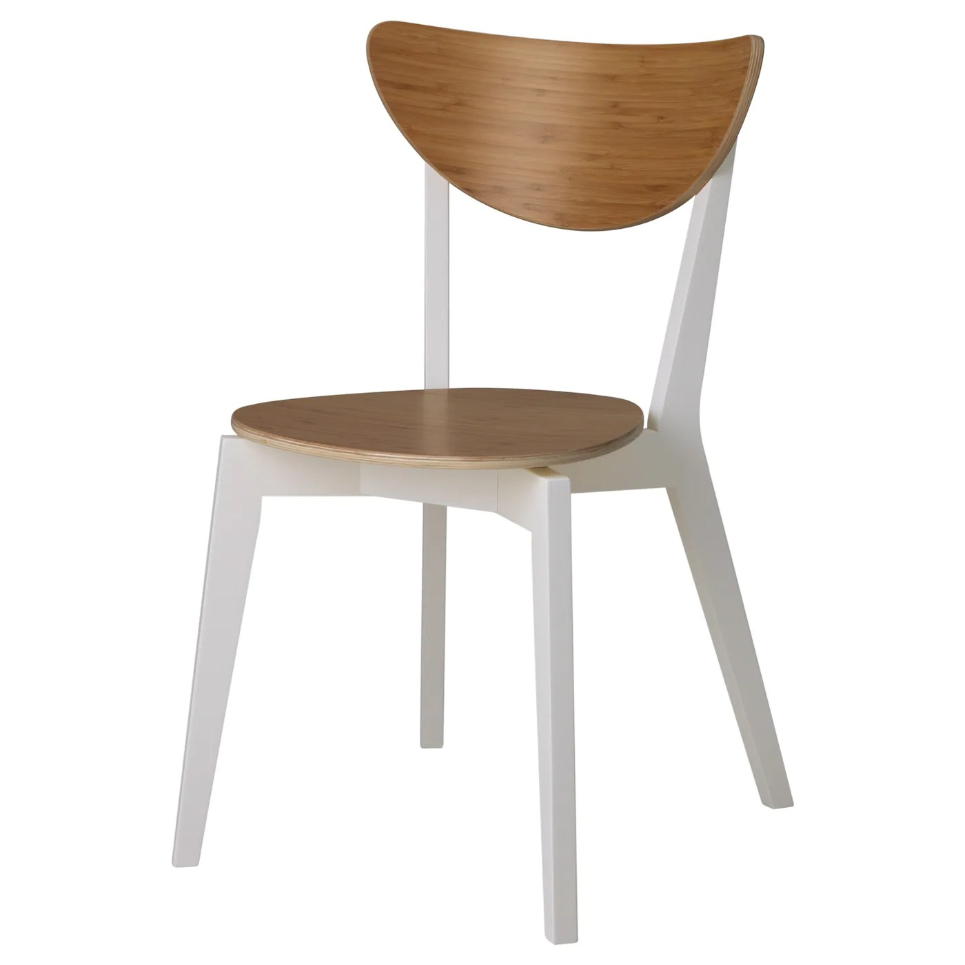 Dining Chairs Ikea Nordmyra Chair Bamboo White