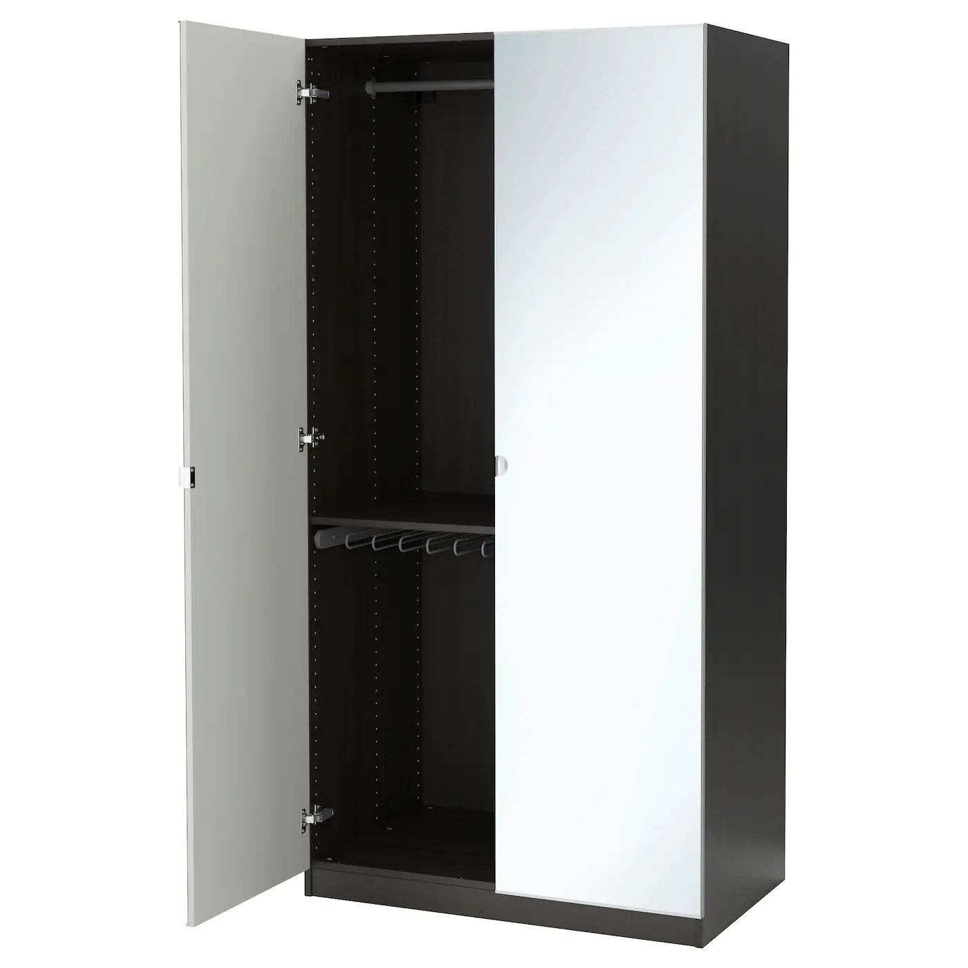 Armadio Ikea Pax Birkeland Wardrobe Combinations With Doors Ikea