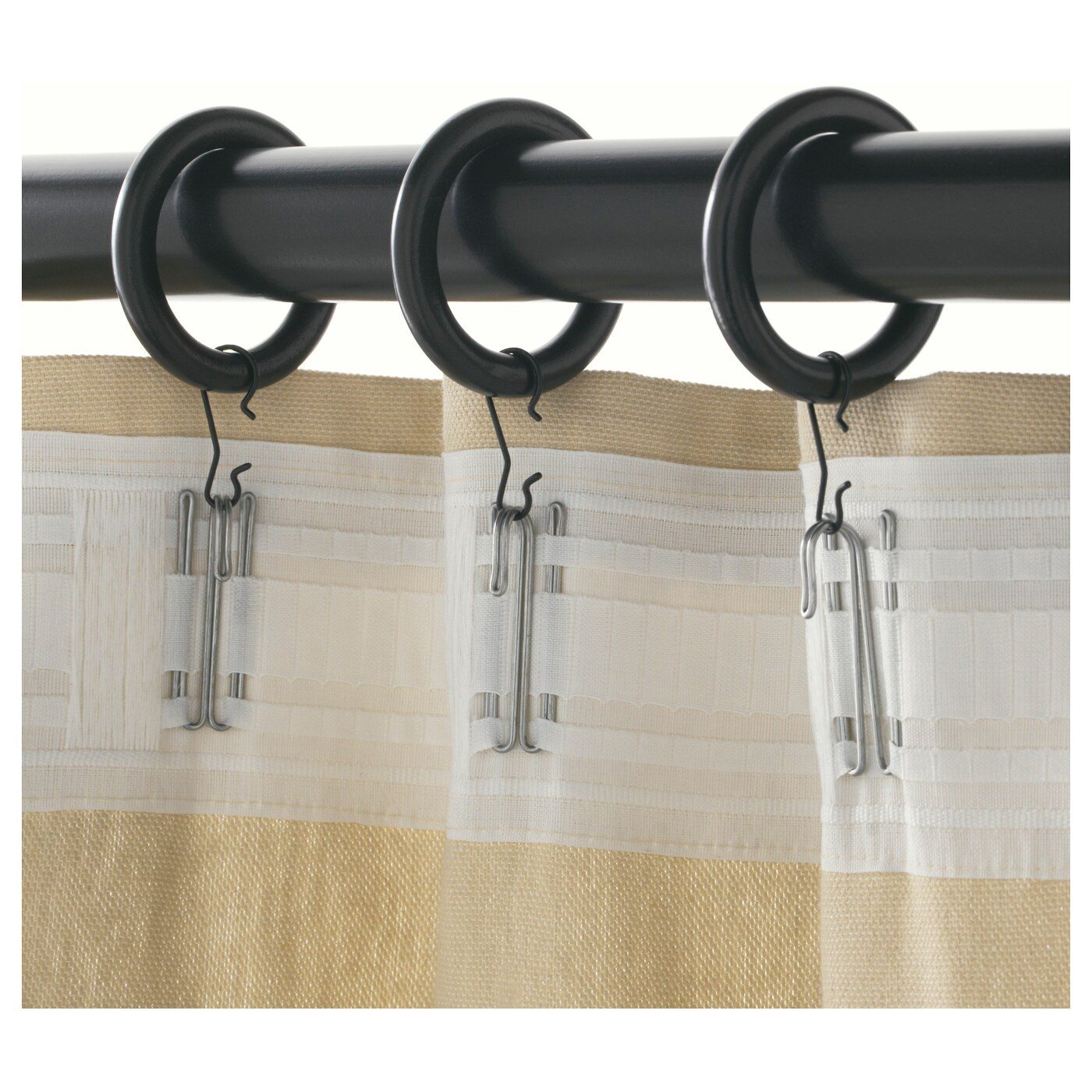 Curtain Clip Hooks Curtain Pole Rings And Hooks Homeminimalist Co