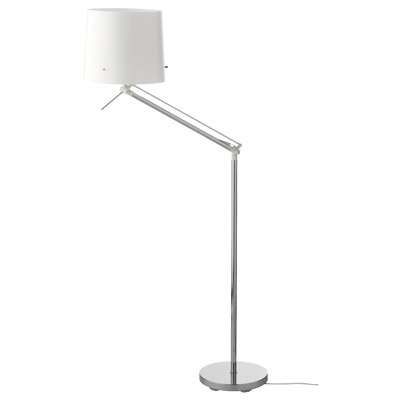 Ikea Reading Lamp Samtid Floor Reading Lamp Nickel Plated White