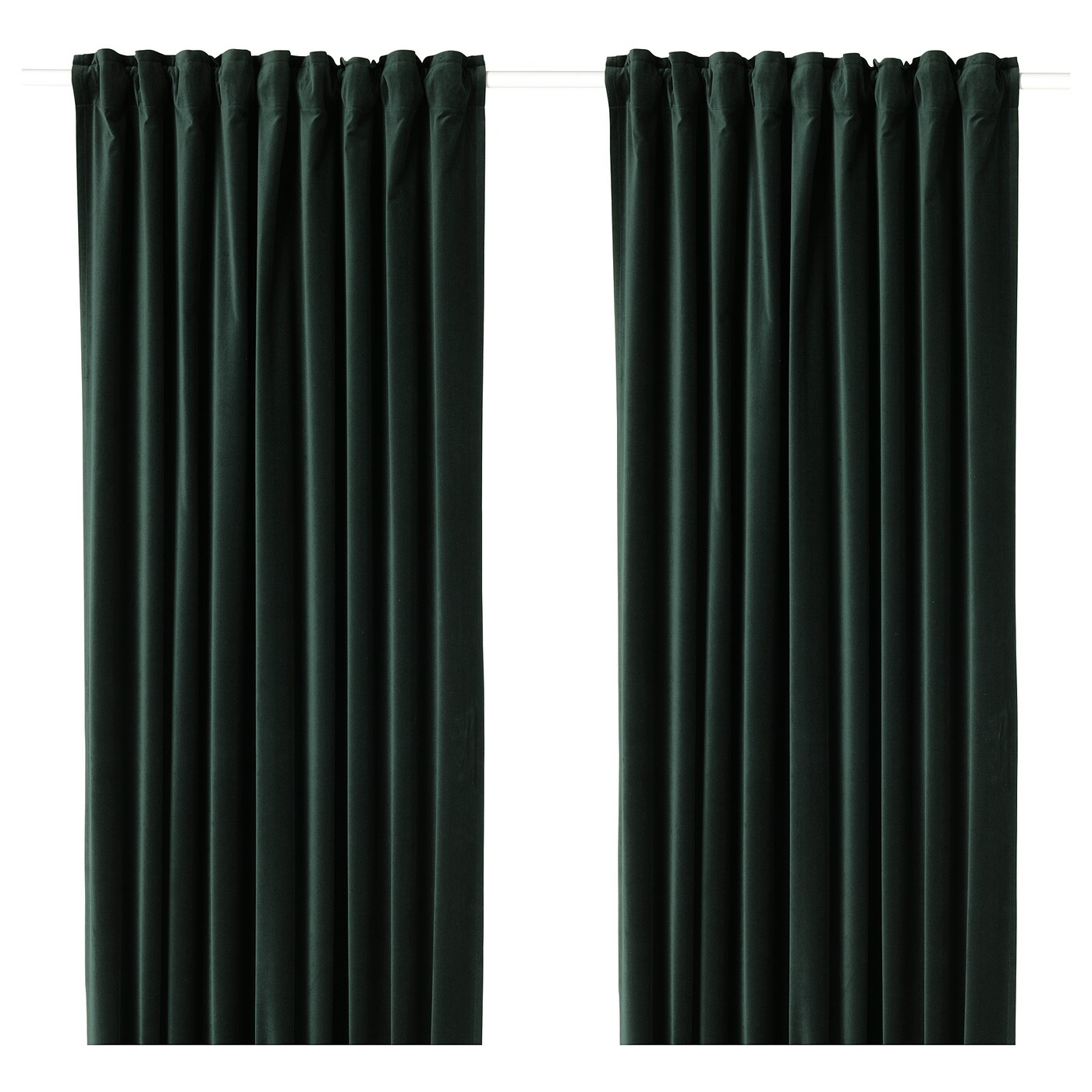 Ikea Perth Curtains Sanela Room Darkening Curtains 1 Pair Dark Green
