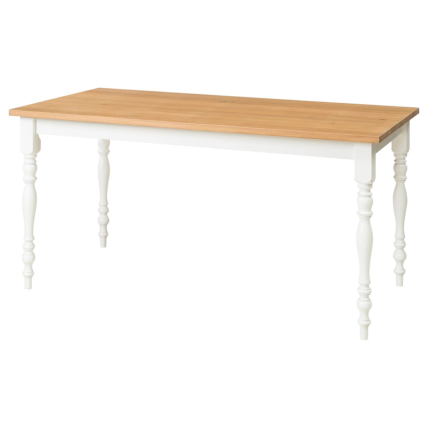 Ikea Dining Table Skogstorp Dining Table Oak White