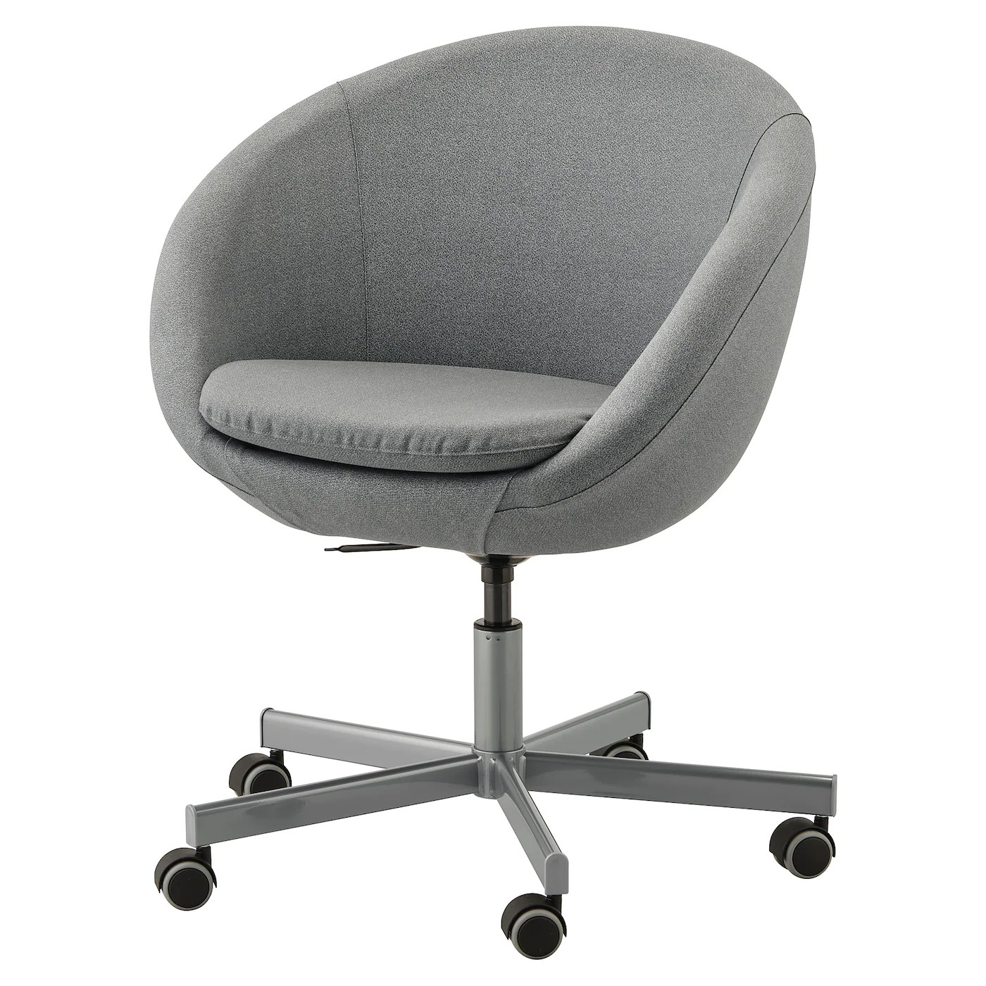 Grey Desk Chair Skruvsta Swivel Chair Flackarp Medium Grey