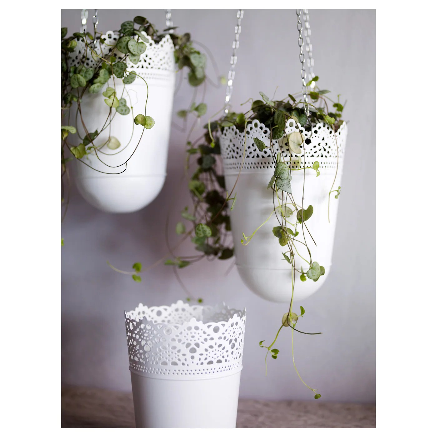 Hangplant Ikea Skurar Plant Pot In Outdoor Off White 12 Cm Ikea