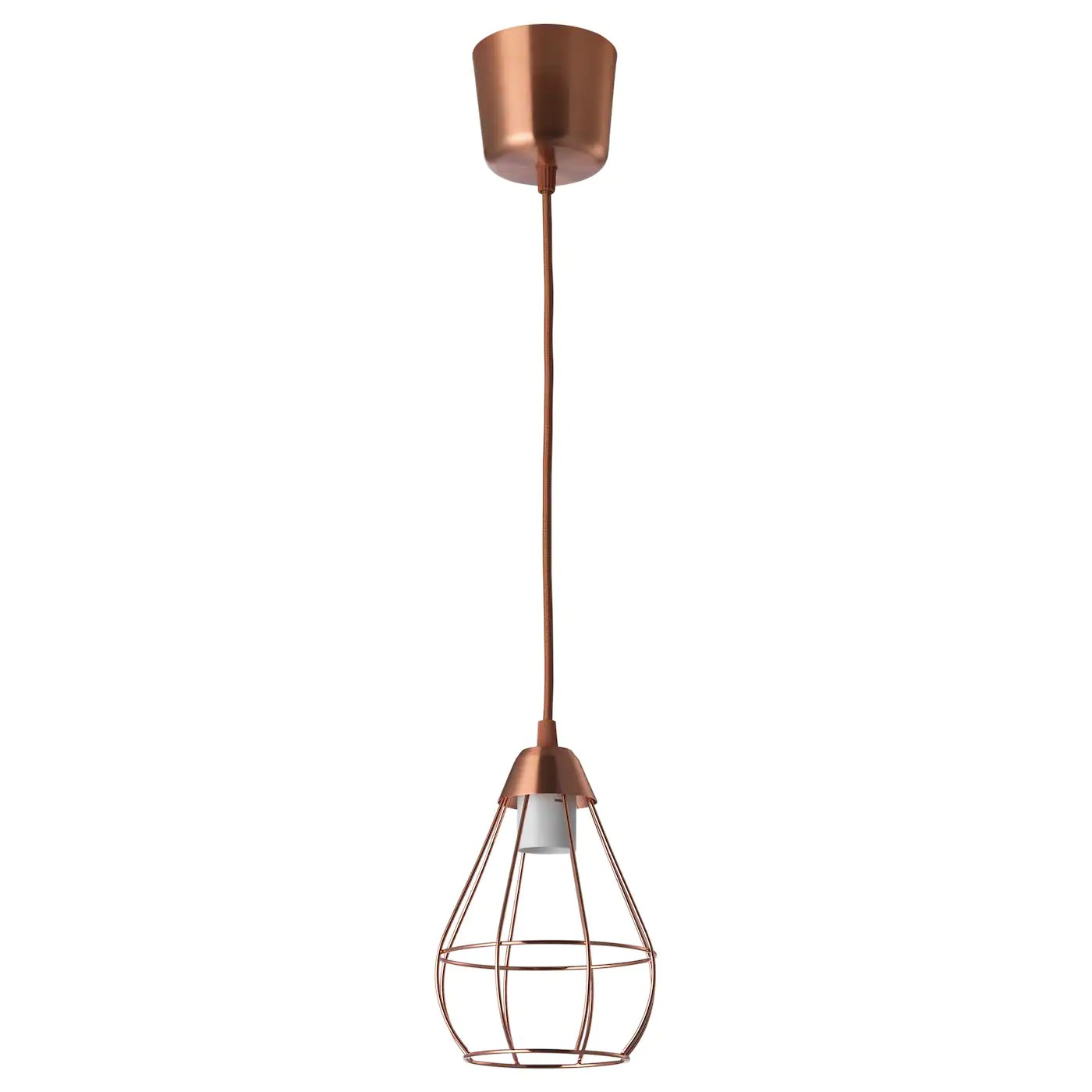 Led Hanglamp Ikea SlÄttbo Pendant Lamp Copper Colour 14 5 Cm Ikea