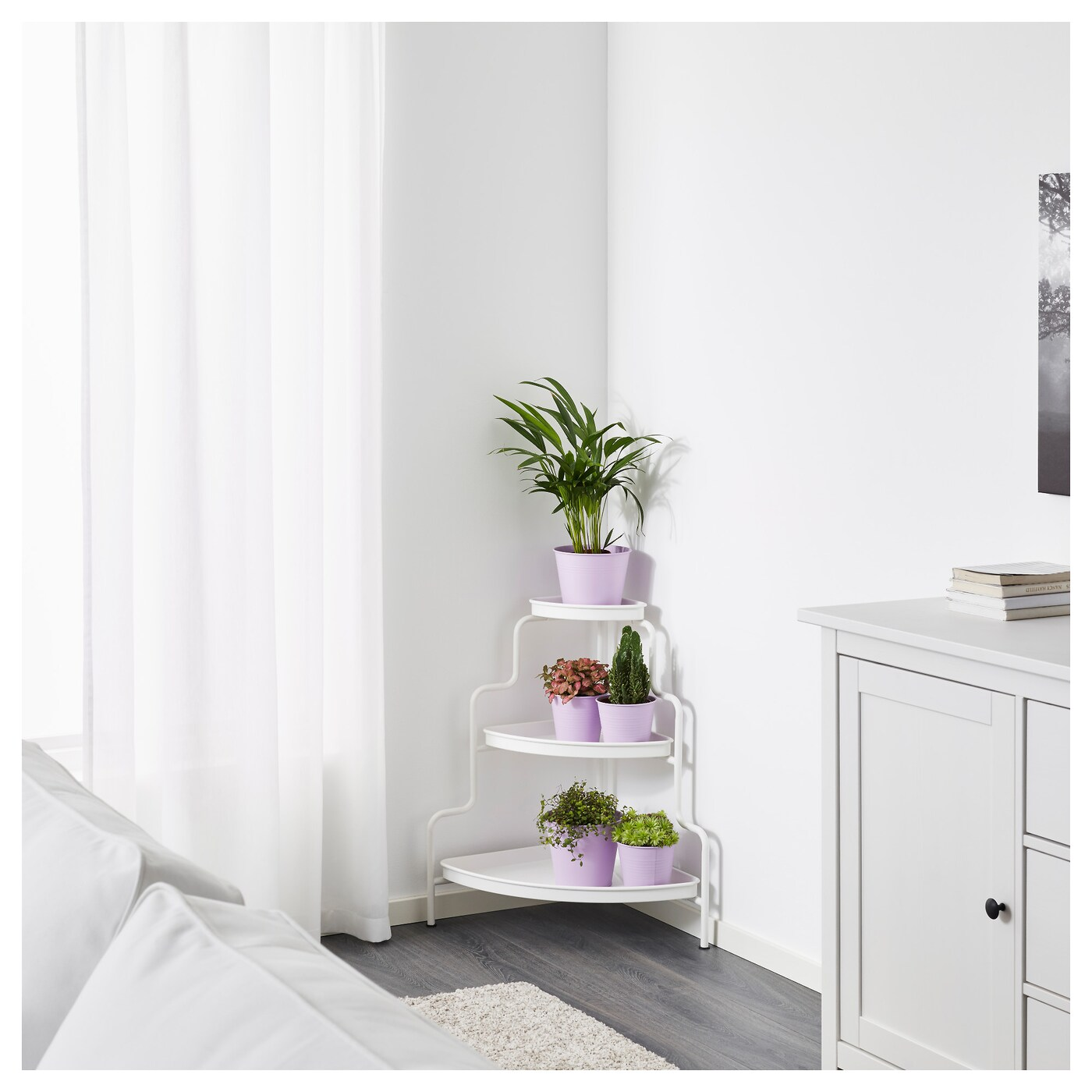 Ikea Socker Plant Stand Socker Plant Stand In/outdoor/white 71 Cm - Ikea