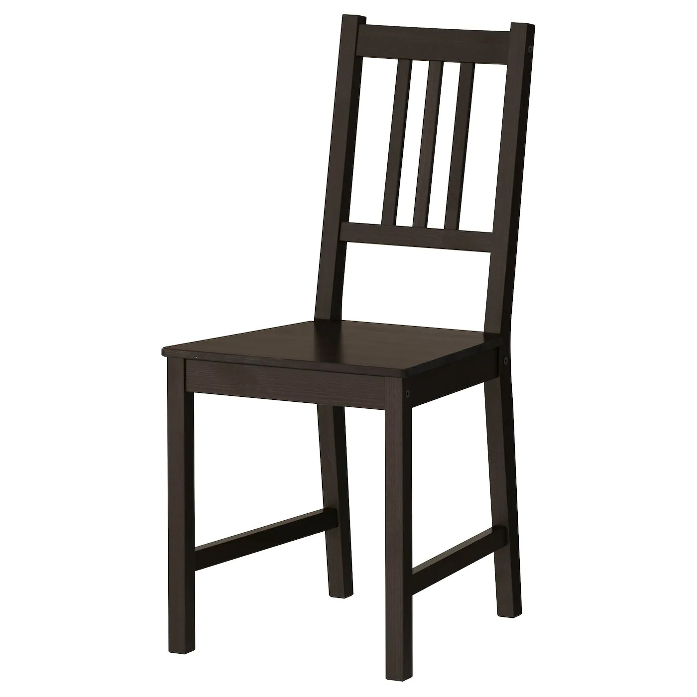 Ikea Black Chair Stefan Chair Brown Black Ikea
