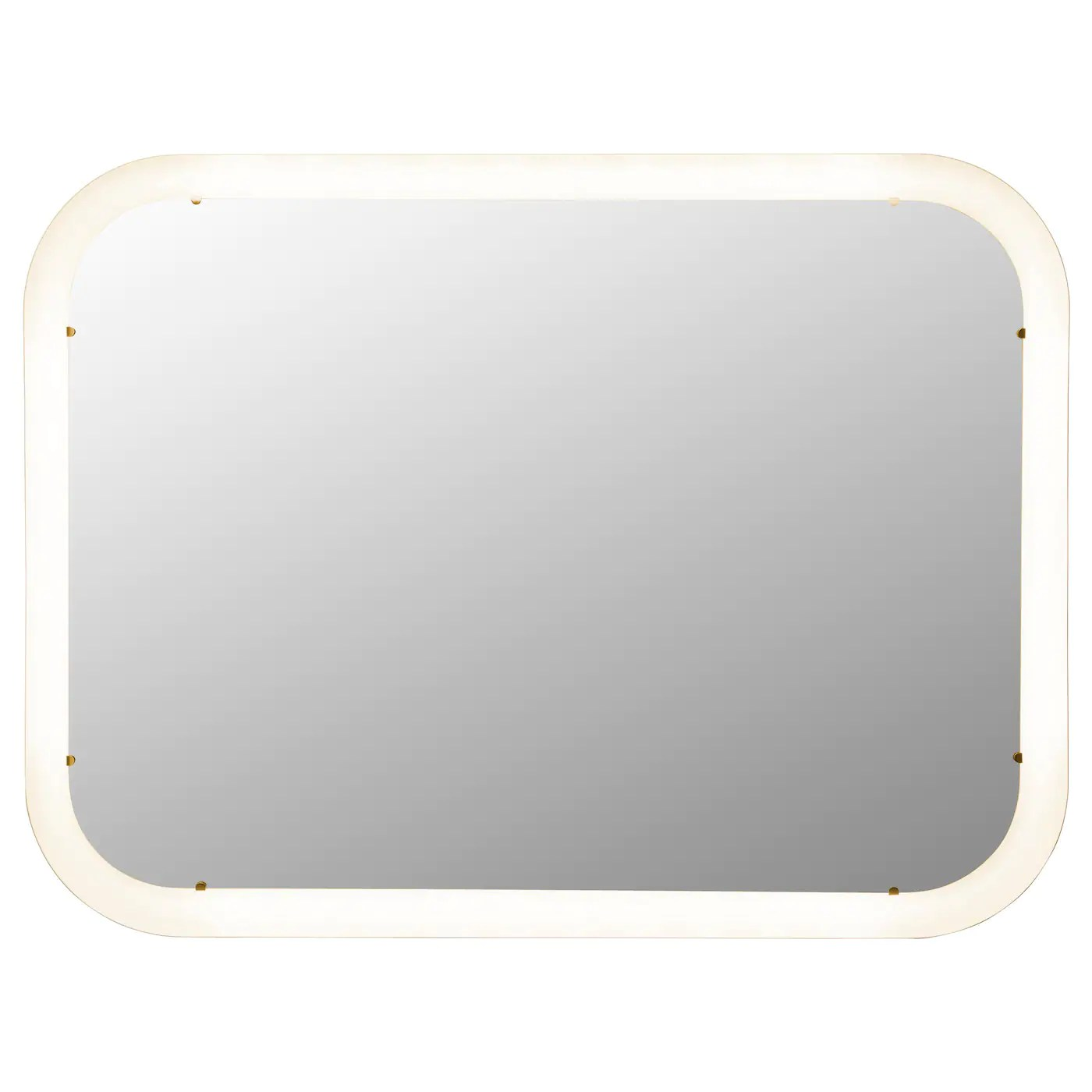 Badkamerspiegel Met Verlichting 120x60 Storjorm Mirror With Integrated Lighting White 80 X 60 Cm