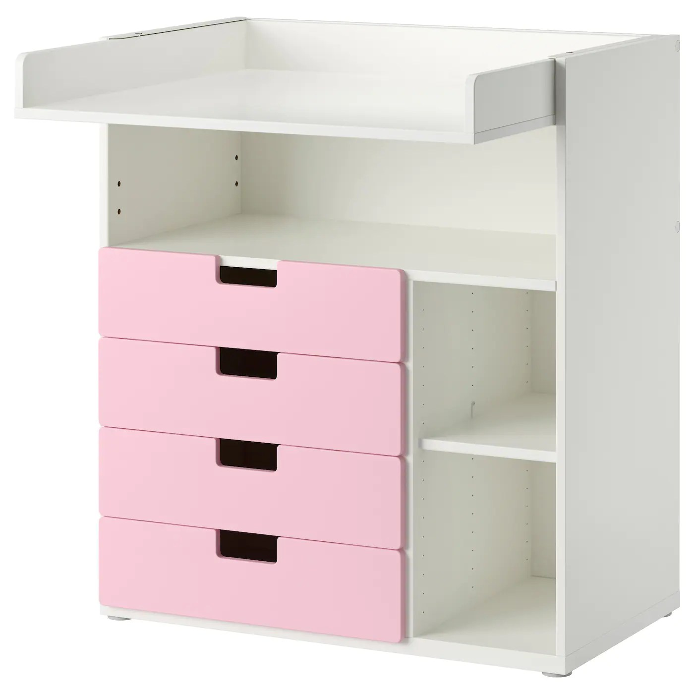 Wickeltisch Ikea Stuva Changing Table With 4 Drawers White Pink 90x79x102