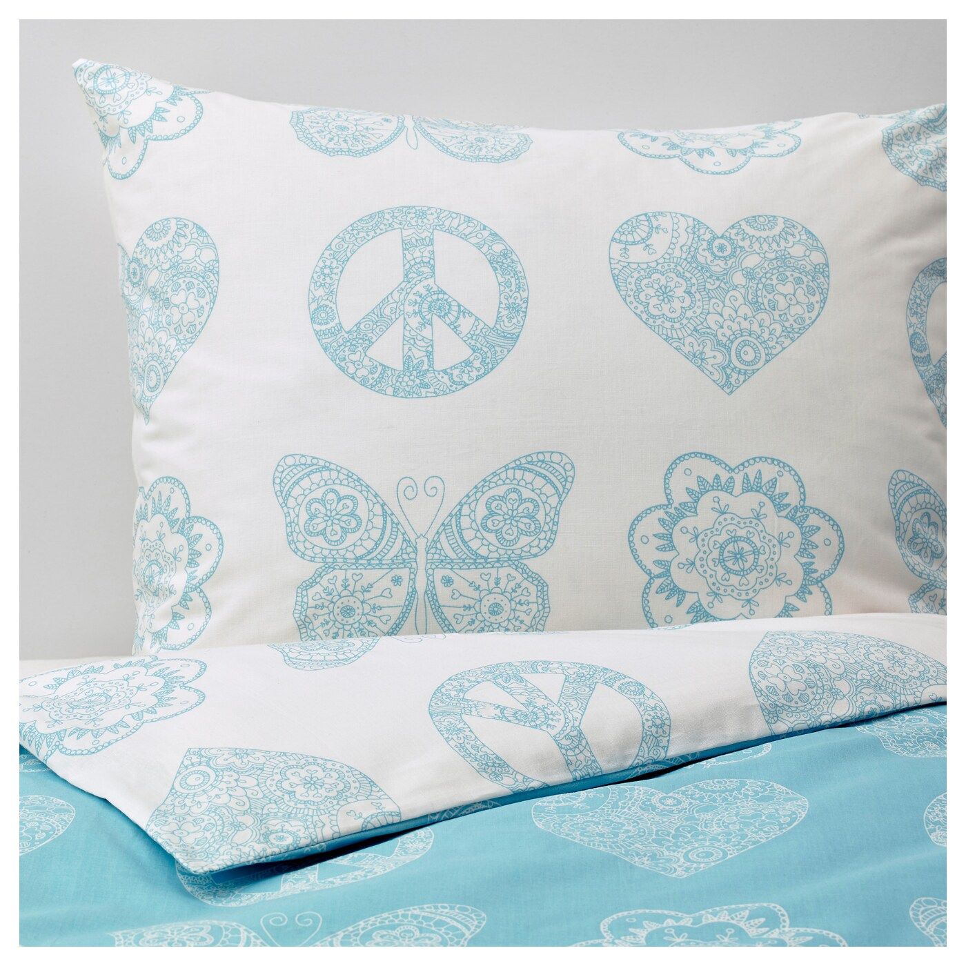 Turquoise Quilt Cover VÄnskaplig Quilt Cover And Pillowcase Turquoise 150x200