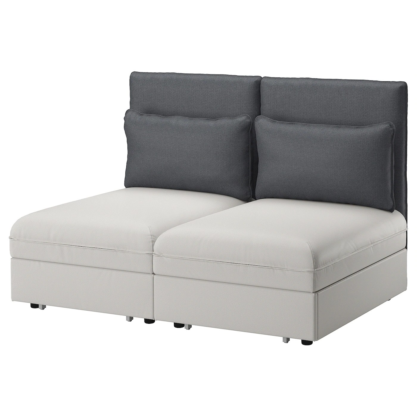 Sofa Vallentuna Vallentuna 2 Seat Sofa With Bed Ramna Light Grey Hillared