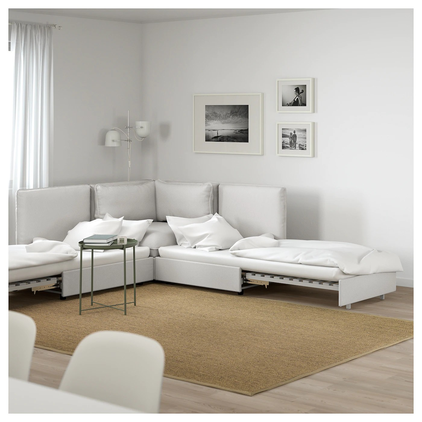 Vallentuna 4 Seat Modular Sofa With 3 Beds Corner Sofa Bed In Grey U00a3415 Inspirational Interior Style