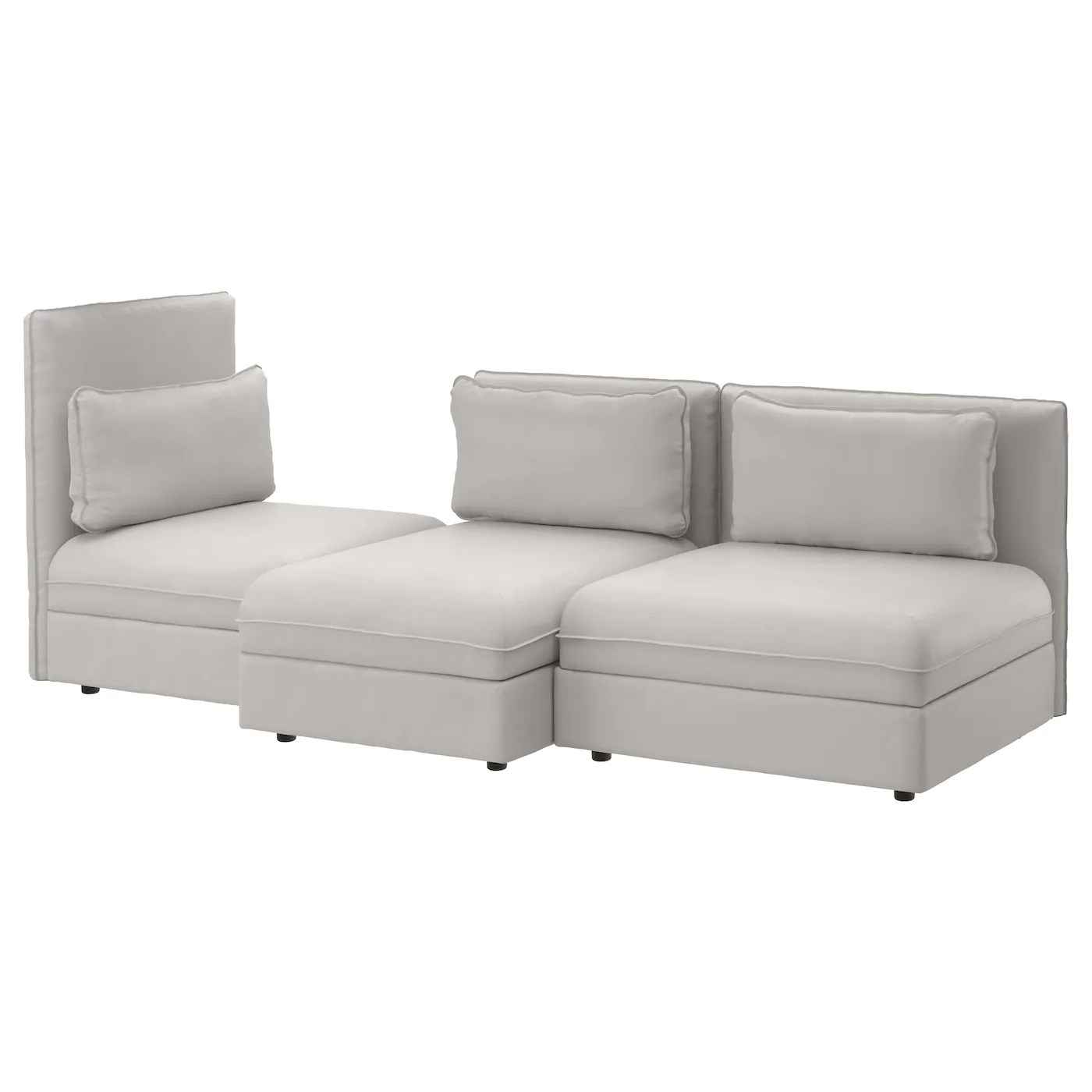 Sofa Vallentuna Vallentuna 3 Seat Sofa Ramna Light Grey Ikea