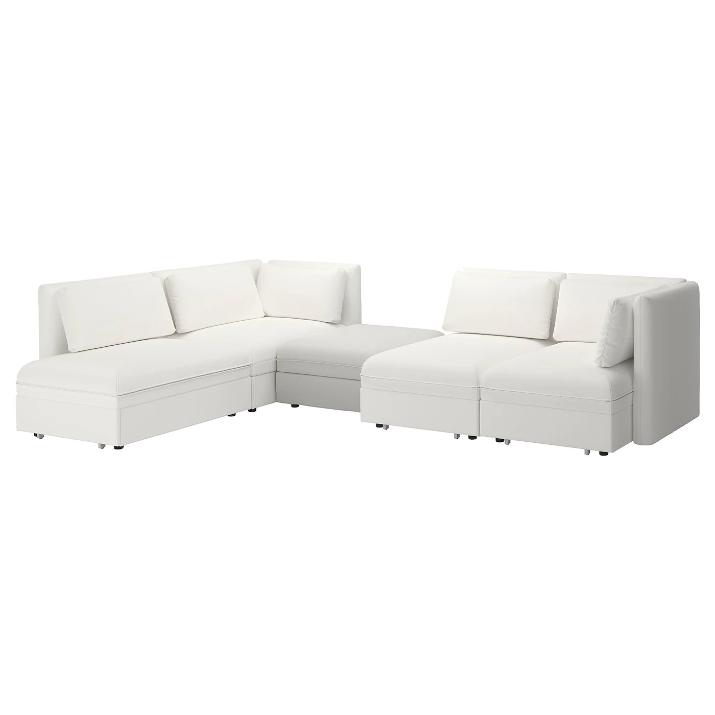 Vallentuna 4 Seat Modular Sofa With 3 Beds Vallentuna 4 Seat Modular Sofa W 3 Sofa Beds And Storage Murum Ramna White Light Grey