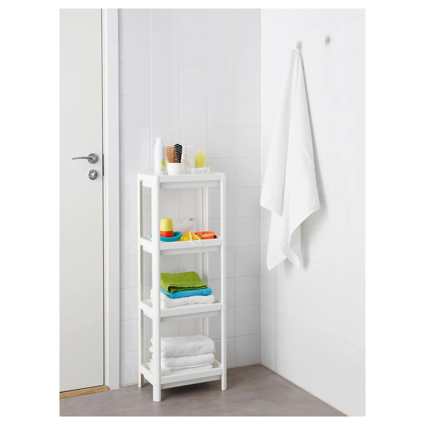 Ikea Vesken Vesken Shelf Unit White