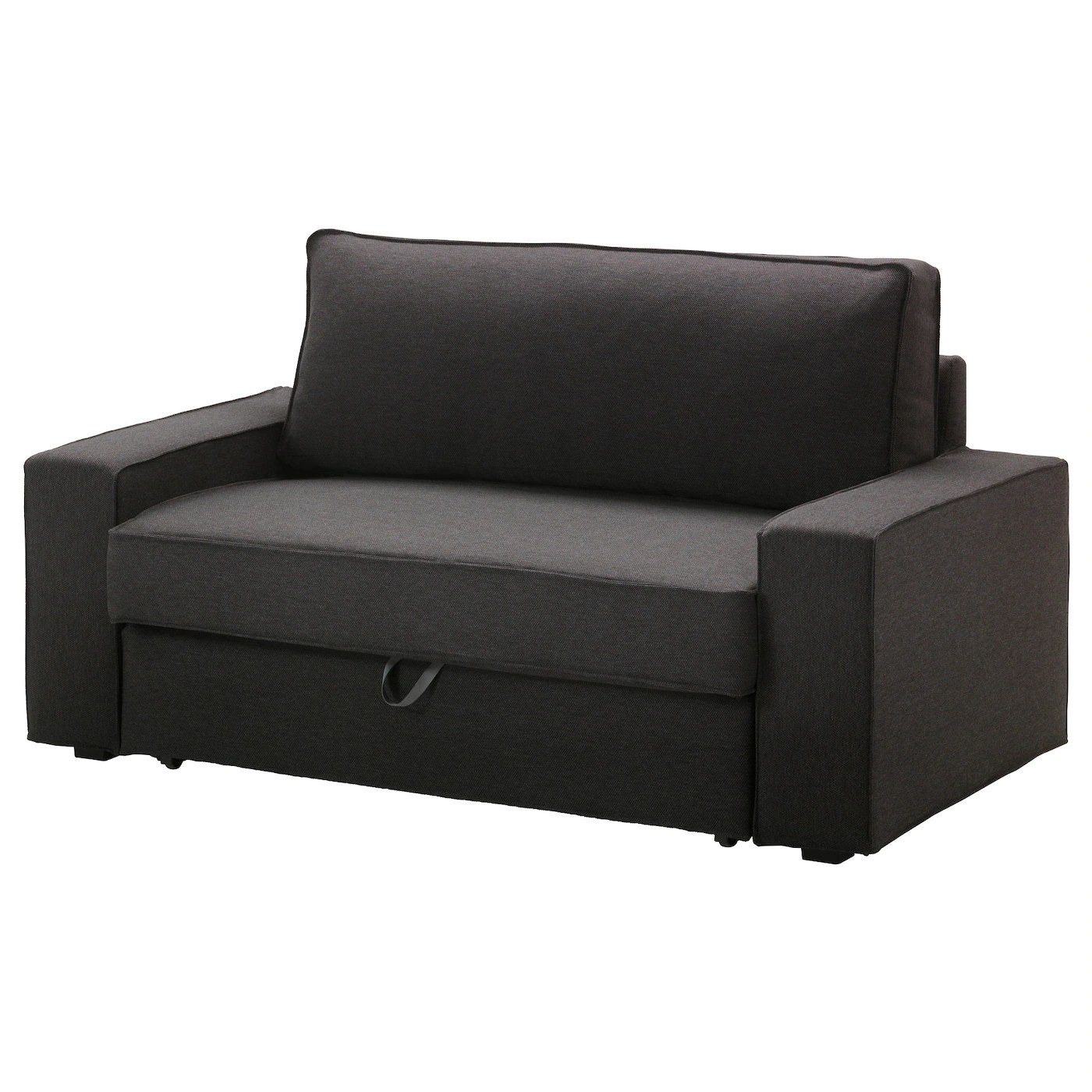Bettsofa Kika Vilasund Two Seat Sofa Bed Dansbo Dark Grey Ikea