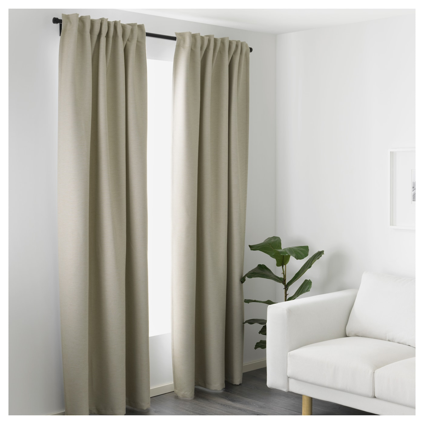 Curtain Ikea Vilborg Curtains 1 Pair Beige 145 X 250 Cm Ikea