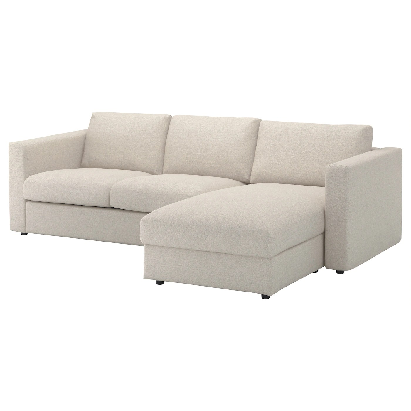 Ikea Bettwäsche Beige Vimle 3 Seat Sofa With Chaise Longue Gunnared Beige Ikea